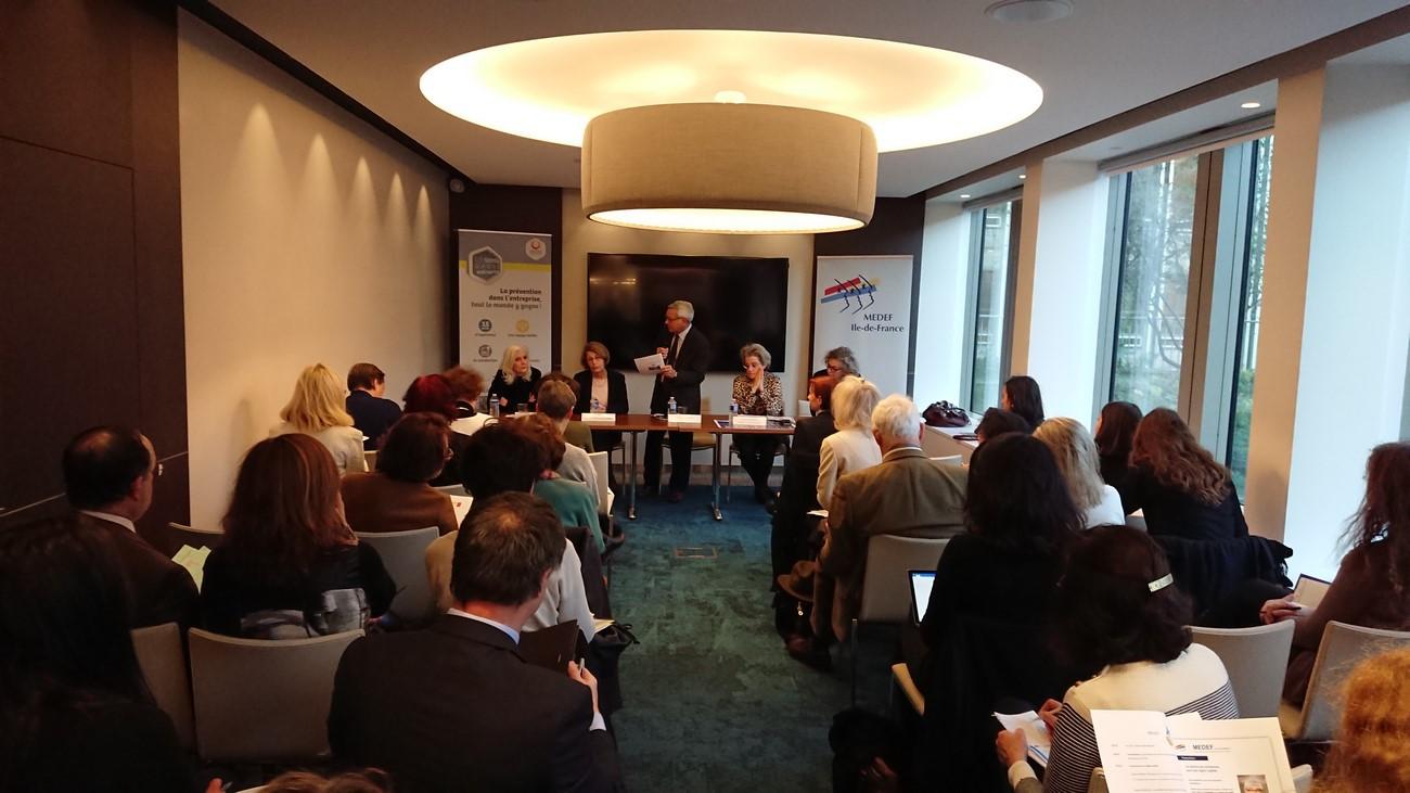 Table ronde en partenariat avec Harmonie Mutuelle autour de la Santé au travail.